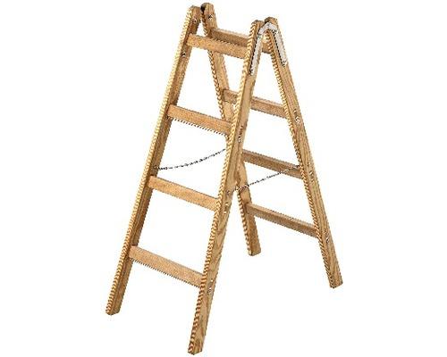 Echelle double en bois Riedel, 2x4 niveaux