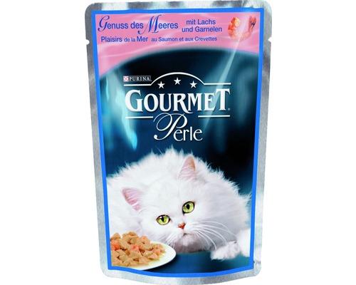 Nourriture humide pour chats, Gourmet Perle au saumon 85g