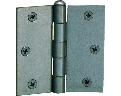 Charnière carrée avec une tige en acier inoxydable rivetée, 64x62mm, acier inoxydable
