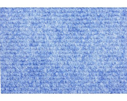 Teppichboden Rips Messina blau 400 cm breit (Meterware)