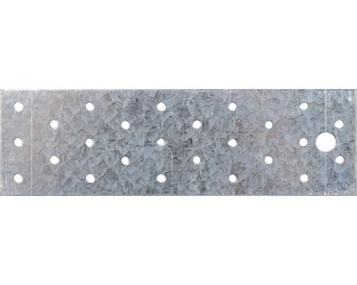 Plaque perforée 200x60mm, galvanisée sendzimir, 1 unité