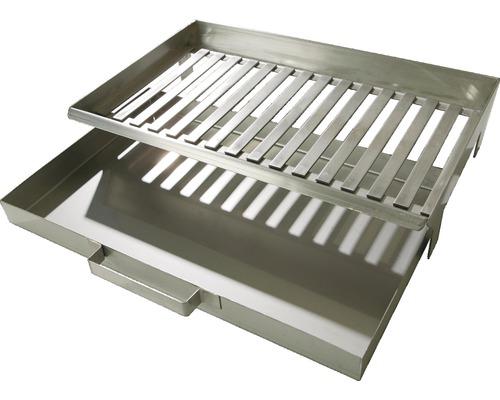 Grille de foyer Buschbeck et bac à cendres pour barbecue cheminée 46 x 30 x 9 cm