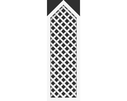 Élément partiel BasicLine type P 70x215/180 cm, blanc