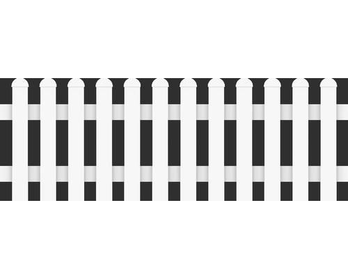 Clôture basse droite 180x63 cm, blanc
