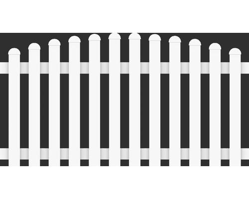 Clôture basse arceau vers le haut 180x90/101 cm, blanc