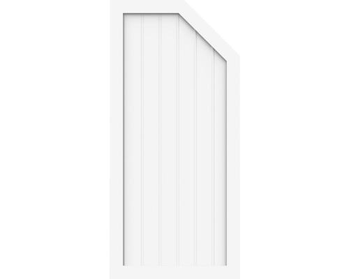 Élément d''extrémité BasicLine type L à gauche 70x150/120 cm, blanc