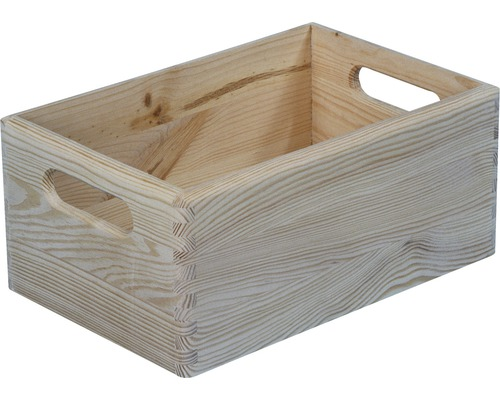 Caisse de rangement en bois 300x150x200 mm