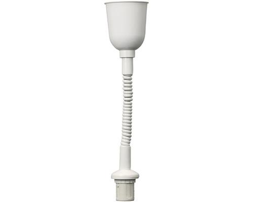 Suspension lampe torsadée E27 blanc