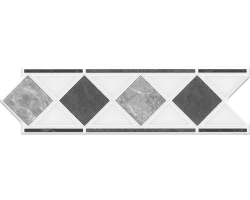 Bordure HP1, marbre gris, 20 x 6 cm
