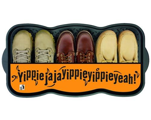 Plateau égouttoir pour chaussures noir 38 x 75 cm