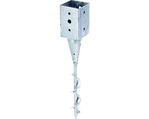 Einschraub-Bodenhülse 71 x 71 x 150 x 595 mm, feuerverzinkt, 1 Stück
