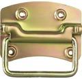 Poignée lourde 100x80x15mm, jaune en acier galvanisé
