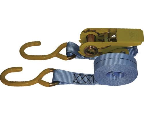 Sangle d''amarrage avec clé à cliquet et crochet en S Mamutec 25 mm, 4 m, 2 pces