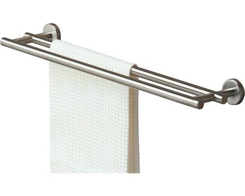 Doppel-Handtuchhalter TIGER Boston 60 cm Inox matt