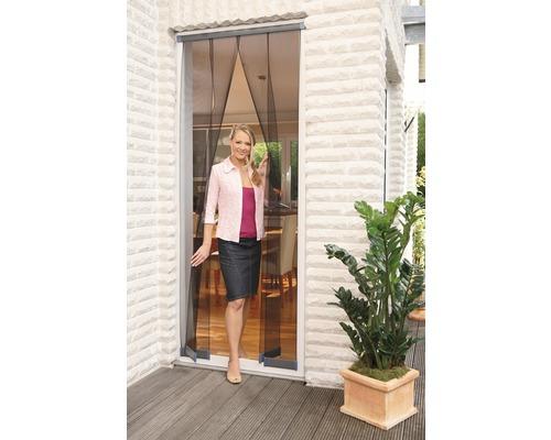 Moustiquaire porte persienne tesa Insect Stop Standard sans perçage anthracite 95x220 cm
