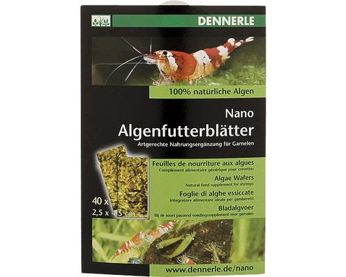 Feuilles d''algues alimentaires Dennerle Nano 40 unités