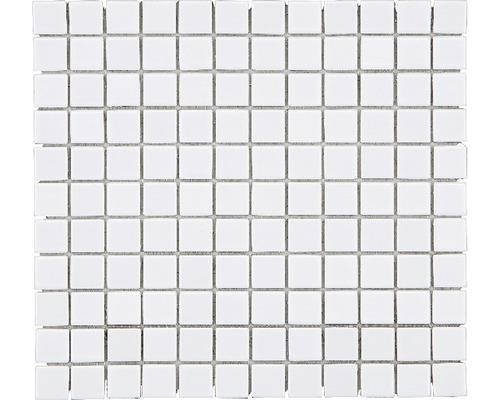 Mosaïque en céramique B-140 30,5x32,5 cm blanche