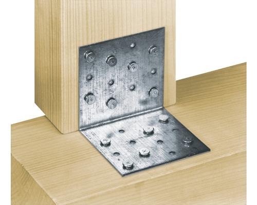 Lochplattenwinkel 60 x 60 x 40 mm, sendzimirverzinkt, 1 Stück