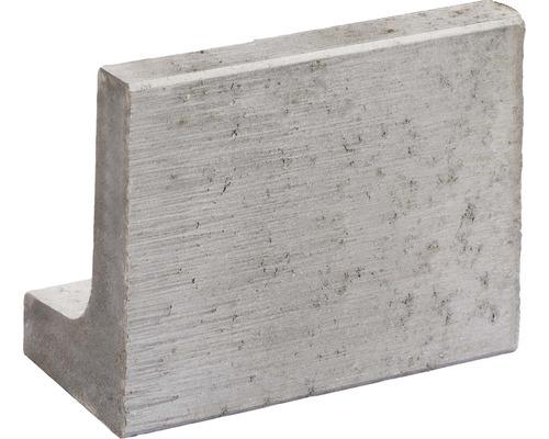 Mini-Bordure pierre en L grise 30x20x40x6cm