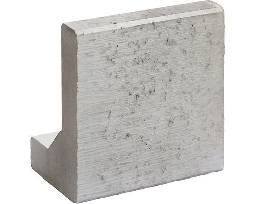 Bordurette en L grise de 50x32x40x8 cm