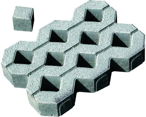 Pavé carré pierre pleine pour dalle stabilisatrice gris 8,3 x 8,3 x 8 cm