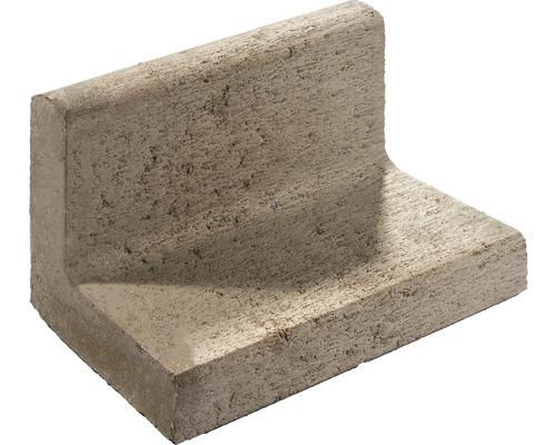 Bordure de pelouse gris 15x15x25cm