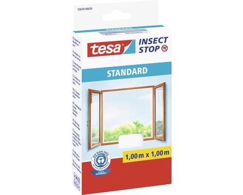 Moustiquaire pour fenêtres tesa Insect Stop Standard blanc 100x100 cm