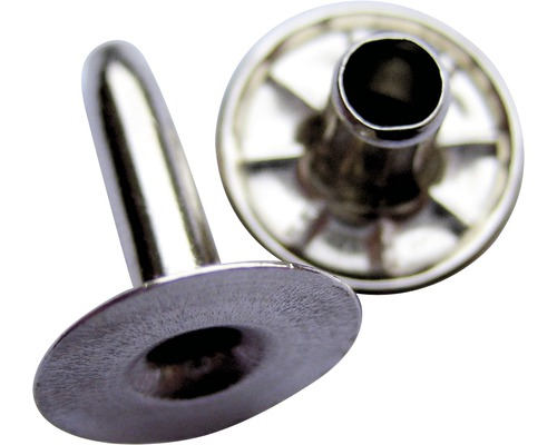 Hohlniete Aluminium vernickelt 4x8x10 mm 20er Pack