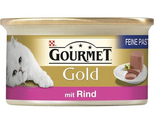 Nourriture pour chats humide, Gourmet Gold mousse au boeuf 85g