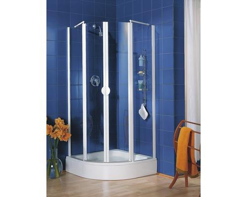 Runddusche Schulte Lugano R500 80x80 cm Klarglas Profilfarbe alpinweiß