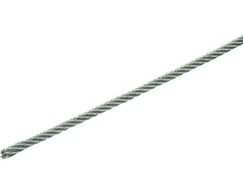 Câble d'acier Pösamo Ø 2mm, 10m acier inoxydable, en anneaux