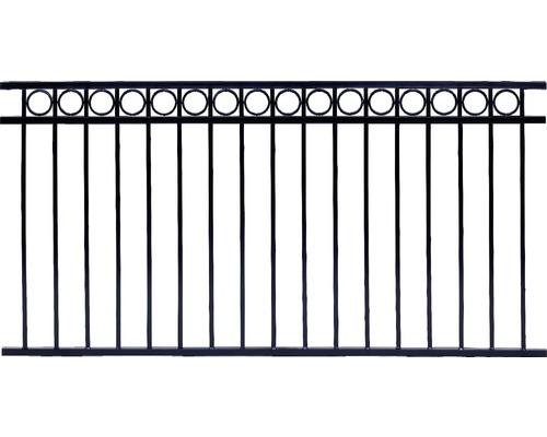 Panneau de clôture Circle 200x100 cm, noir