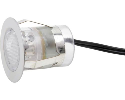 Kit de spots à encastrer LED IP44 10 pièces 10x0,05W Cosa 30 acier inoxydable/blanc Ø 30/22 mm