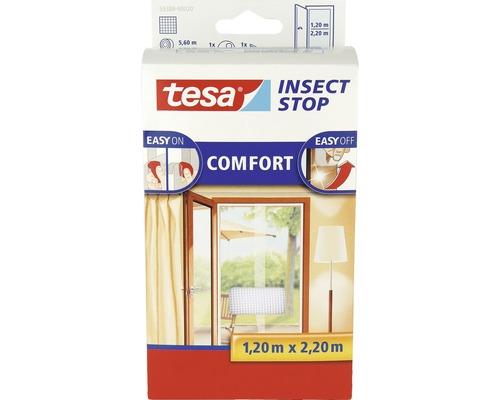 Moustiquaire pour portes tesa Insect Stop Comfort sans perçage blanc 65x220 cm lot de 2