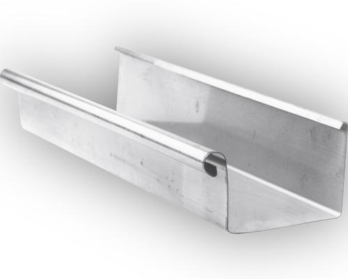 Chéneau rectangulaire en zinc diamètre nominal 70 longueur:2.00m