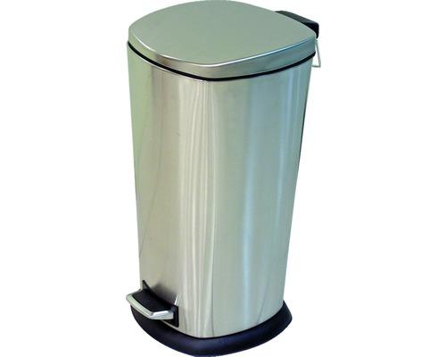Poubelle à pédale acier inoxydable 40 litres