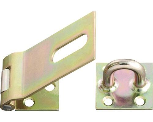 Sécurité lourde 100x38x40mm, jaune en acier galvanisé