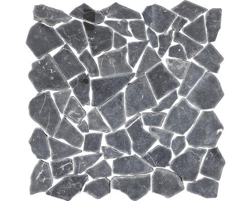 Mosaïque en marbre-pierre naturelle polygonales Nero Marquinia 30,5x30,5 cm