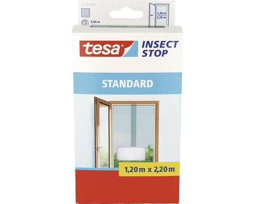 Moustiquaire pour portes tesa Insect Stop Standard sans perçage blanc 65x220 cm lot de 2