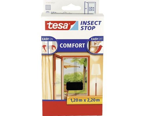 Moustiquaire pour portes tesa Insect Stop Comfort sans perçage anthracite 60x220 cm lot de 2
