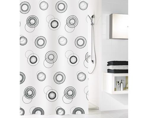 Rideau de douche Kleine Wolke Luna noir et blanc 180x200cm