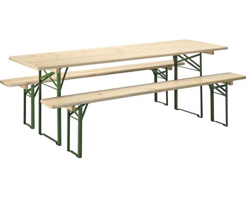 Set De Garniture Table Et Banc Pliants Largeur 70 Cm épicéa 3 Pièces