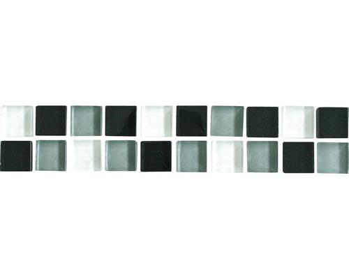 Bordure Juno noire-grise-blanche 5x25cm