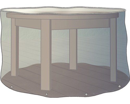 Housse de protection pour table ronde 125cm