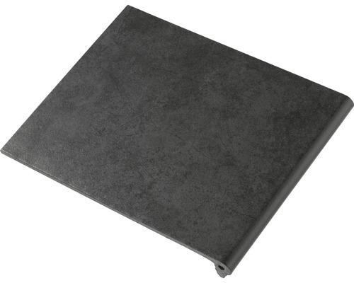 Marche d''escalier grès-cérame mica noir 24.5x32cm