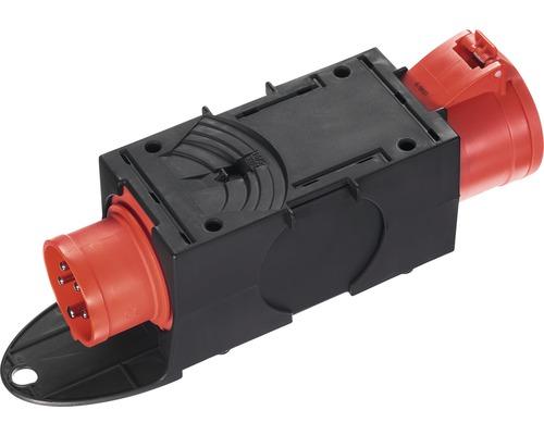 Adaptateur CEE, dispositif de connexion de jonction PCE 16A/32A IP44 5 pôles noir/gris