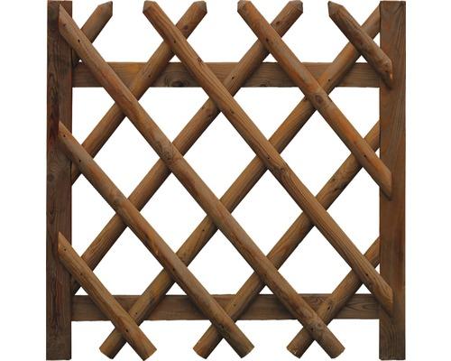 Portail simple, clôture croisée 100x100 cm, traité en autoclave par imprégnation