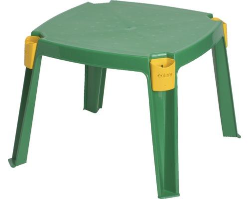 Table de jardin pour enfants plastique 53x53x42.5 cm, vert ...
