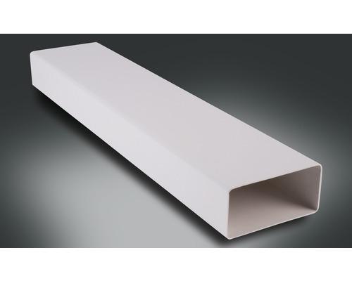 Tube plat Rotheigner blanc 111x54 mm longueur 0,50 m