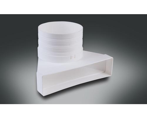 Pièce de dérivation pour tube plat Rotheigner blanc 220x54 mm avec tubulures